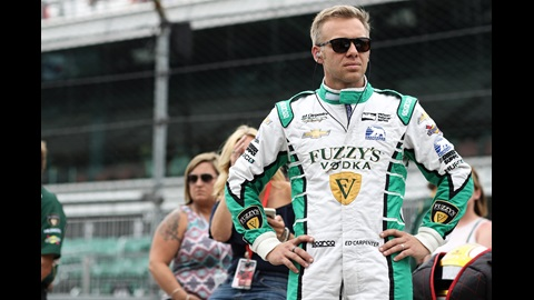Ed Carpenter looks down pit lane prior to his qualification attempt for the 101st Indianapolis 500