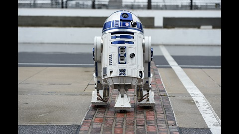 R2-D2 stands on the Yard of Bricks at the Indianapolis Motor Speedway for #MayTheFourthBeWithYou