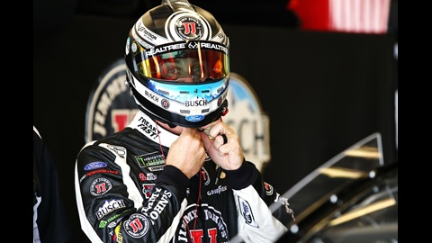 Kevin Harvick prepares for Brickyard 400 practice